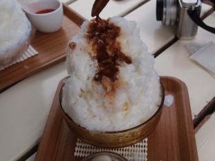 埜庵のカキ氷 キャラメル